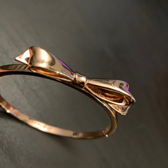Kate Spade New York - Rose Gold Bow Hinge Bangle